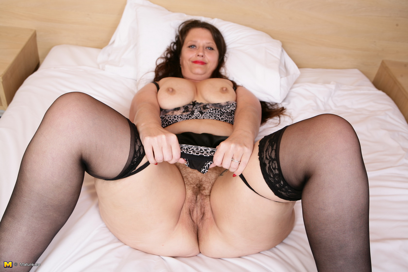 image Naughty old granny gets lured into 3some