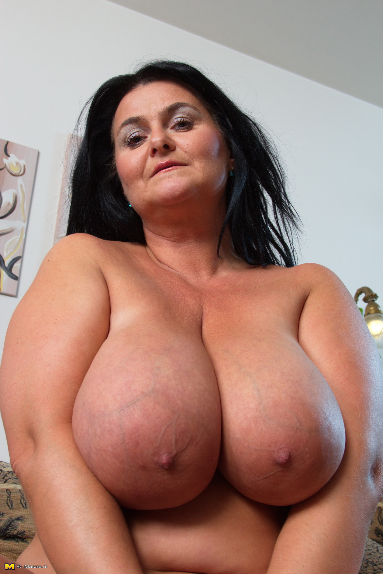 Mature women with large breast