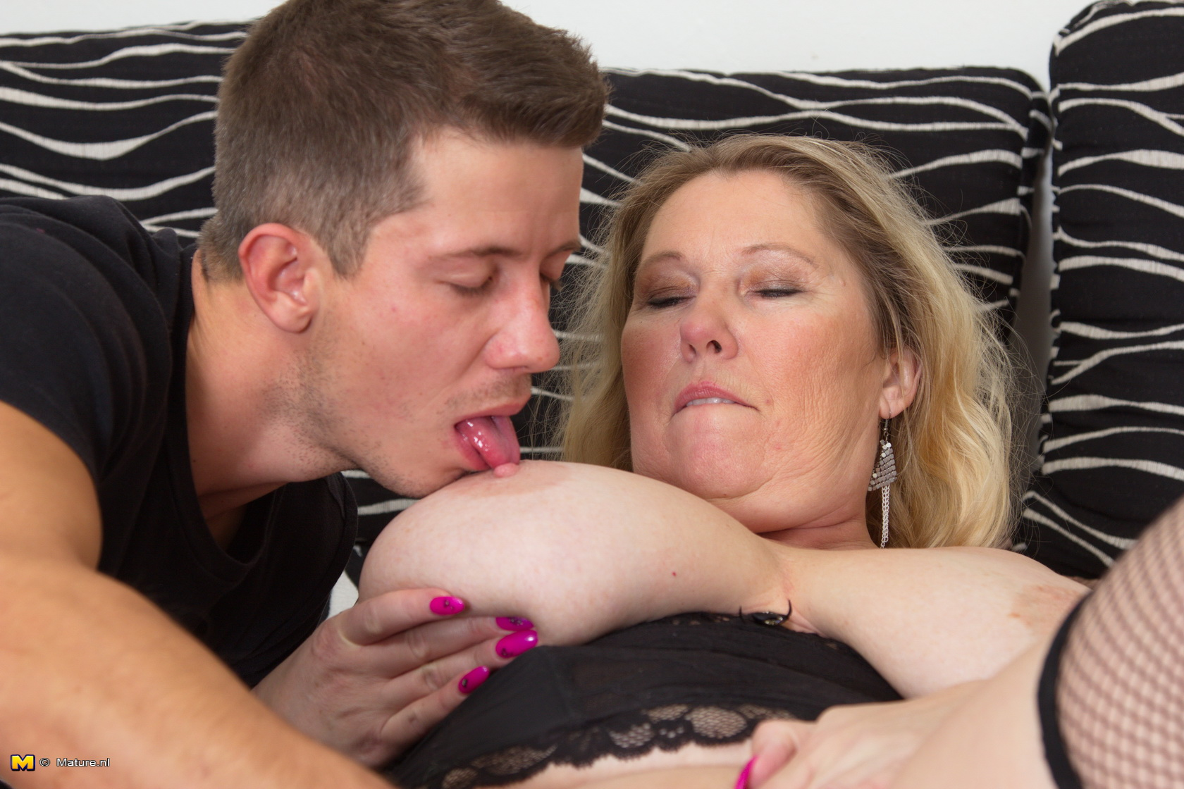 Mature bbw mom loves having hard sex with young boy 2