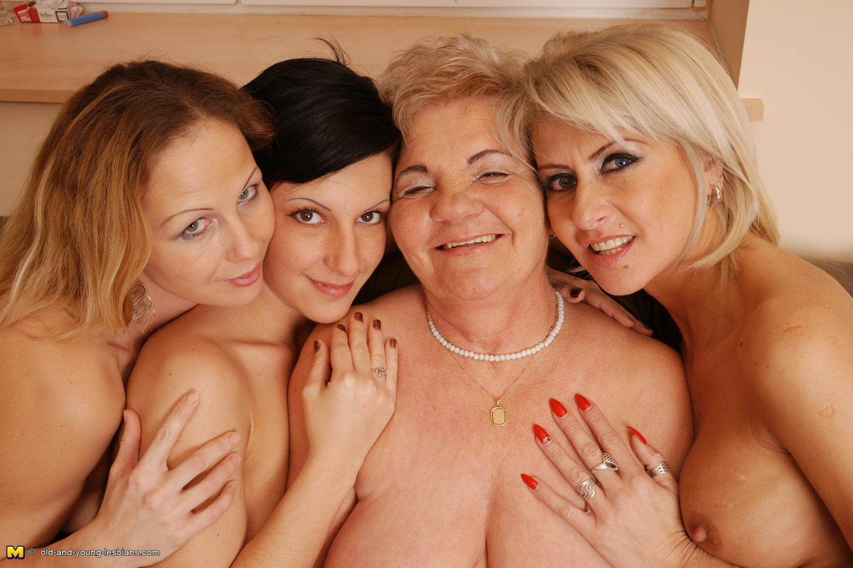 Granny and friends have fun with young cock 5